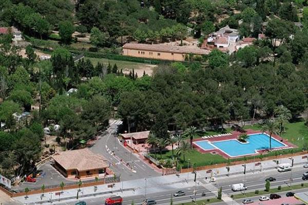 Camping Santa Elena Ciutat vista aerea