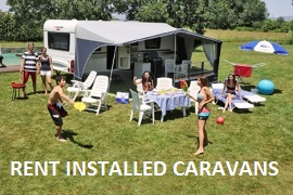 Equipped caravans rental in the best campsites in Costa Brava