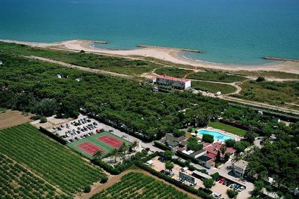 Camping Platja Vilanova vista aerea