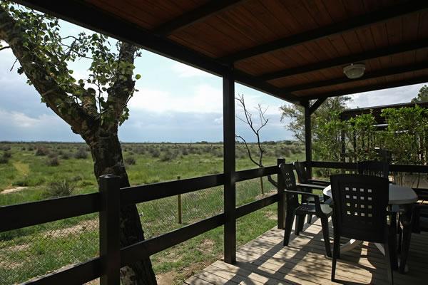 Camping Laguna terraza bungalow