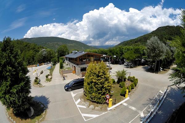 Camping Vall de Camprodon entrada