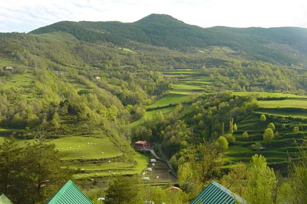 Camping Vall de Ribes paisaje