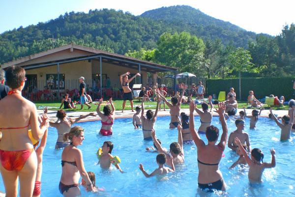 Camping Prades aquagym