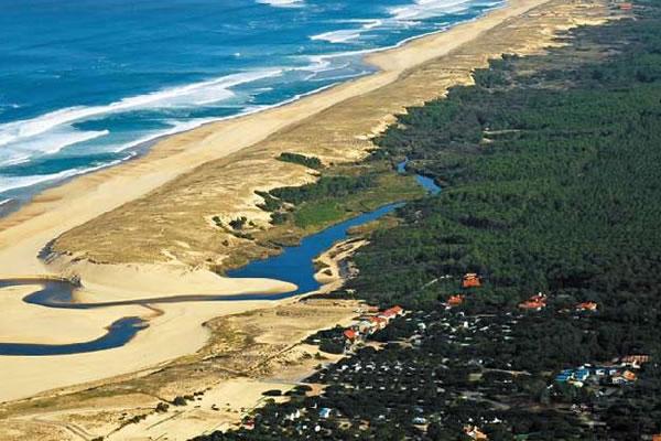 Camping Le Saint Martin Moliets vista aerea