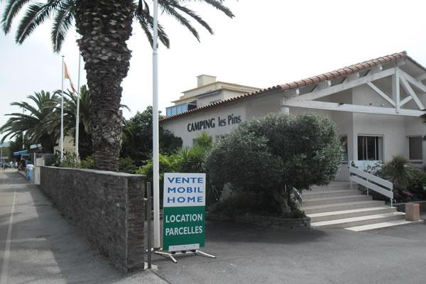 Camping Les Pins Argeles entrada