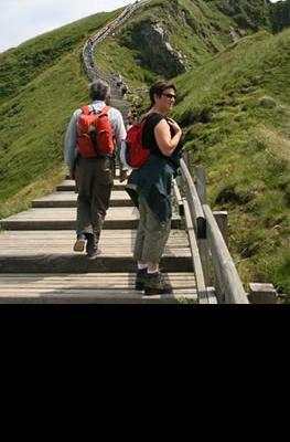 Cicloturismo  y senderismo en Puy de Dôme